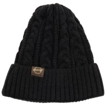 Weatherproof Chunky Cable Beanie (For Men and Women) in Black - Closeouts