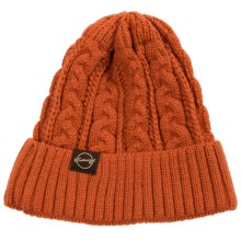 Weatherproof Chunky Cable Beanie (For Men and Women) in Orange - Closeouts