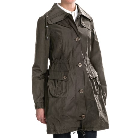 Weatherproof City Anorak Coat (For Women) in Parsley