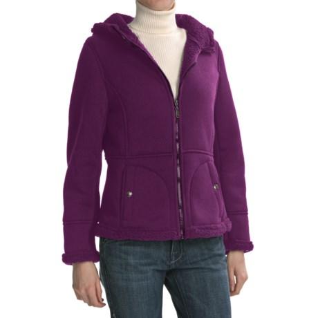 Weatherproof Cozy Bonded Fleece Jacket (For Women) in Plum