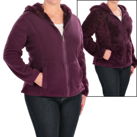 Weatherproof Cozy Bonded Fleece Jacket - Reversible (For Plus Size Women)