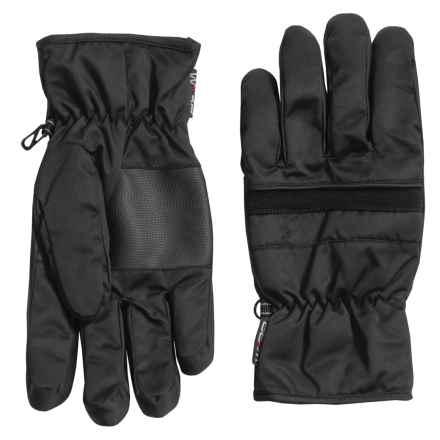 Weatherproof Digital Palm Patch Gloves - Insulated (For Men) in Black - Closeouts