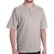 Weatherproof Dobby Henley Shirt - Short Sleeve (For Men) in Grey Heather - Closeouts