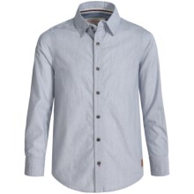 Weatherproof Dobby Shirt - Button Front, Long Sleeve (For Big Boys) in Chambray - Closeouts
