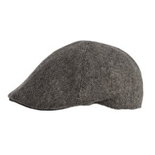 Weatherproof Driving Cap - Wool Blend, Quilted Lining (For Men) in Grey Donegal - Closeouts