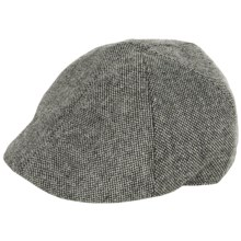 Weatherproof Driving Cap - Wool Blend, Quilted Lining (For Men) in Grey Nailhead - Closeouts
