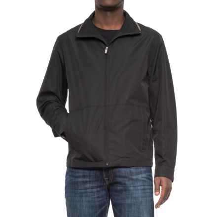 Weatherproof Faille Open Bottom Jacket (For Men) in Black - Overstock