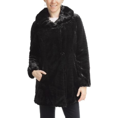 Weatherproof Faux-Fur Jacket (For Women) in Black