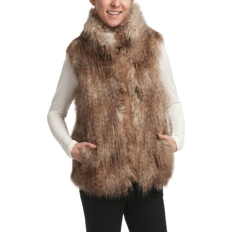 Weatherproof Faux-Fur Vest (For Women) in Natural
