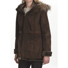 Weatherproof Faux-Shearling Coat (For Women) in Chocolate - Closeouts