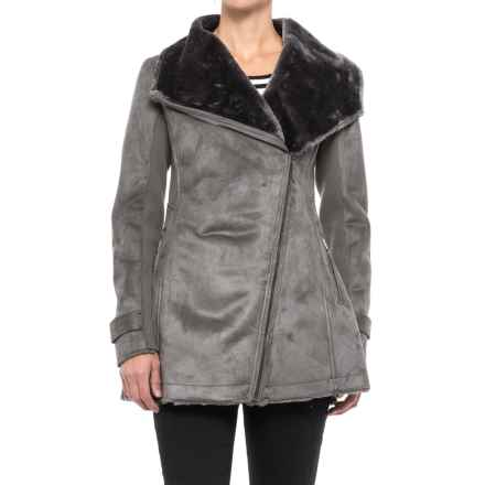 Weatherproof Faux-Shearling Jacket (For Women) in Graphite - Closeouts