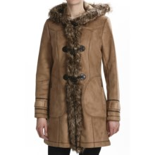 Weatherproof Faux-Shearling Toggle Coat (For Women) in Honey - Closeouts