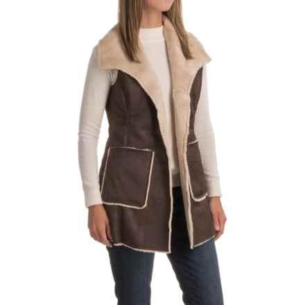 Weatherproof Faux-Shearling Vest (For Women) in Brown - Closeouts