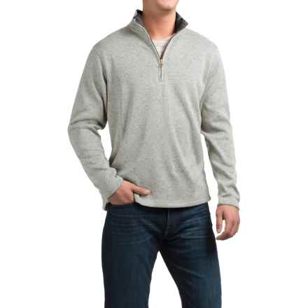 Weatherproof Fleece Zip Neck Sweater (For Men) in Grey - Closeouts