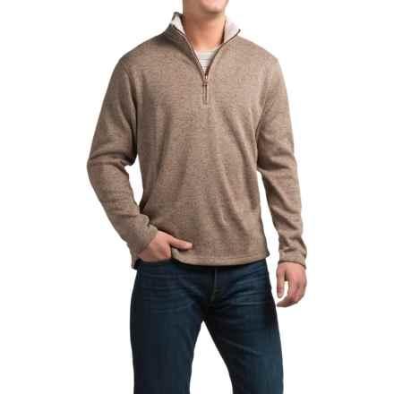 Weatherproof Fleece Zip Neck Sweater (For Men) in Khaki - Closeouts