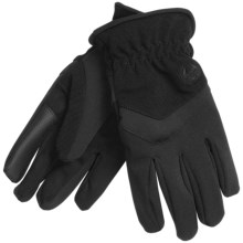 Weatherproof Four-Way Stretch Gloves - Touchscreen Compatible (For Men) in Black - Closeouts