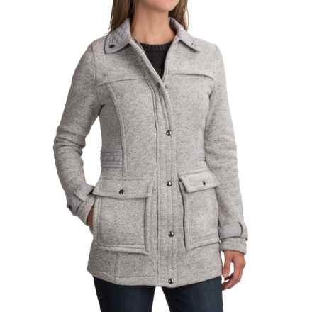 Weatherproof Full-Length Sweater Jacket (For Women) in Light Grey - Closeouts