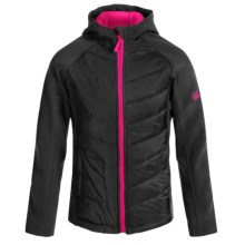 Weatherproof Heather Soft Shell Jacket - Fleece Lined (For Big Girls) in Black - Closeouts