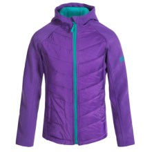 Weatherproof Heather Soft Shell Jacket - Fleece Lined (For Big Girls) in Purple - Closeouts