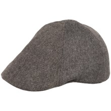 Weatherproof Herringbone Driving Cap - Wool Blend, 6-Panel (For Men) in Charcoal/Donegal - Overstock
