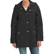 Weatherproof Hooded A-Line Jacket (For Women) in Black - Closeouts