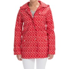 Weatherproof Hooded A-Line Jacket (For Women) in Red Hills Print - Closeouts