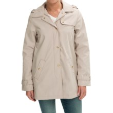 Weatherproof Hooded A-Line Jacket (For Women) in Sand - Closeouts