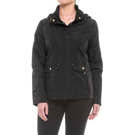 Weatherproof Hooded Anorak Jacket (For Women) in Black - Closeouts