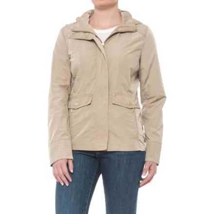 Weatherproof Hooded Anorak Jacket (For Women) in Dune - Closeouts