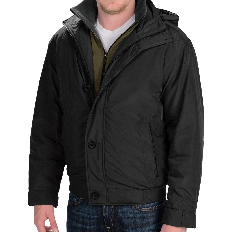 Hooded Bomber Jacket Men ElYpG6