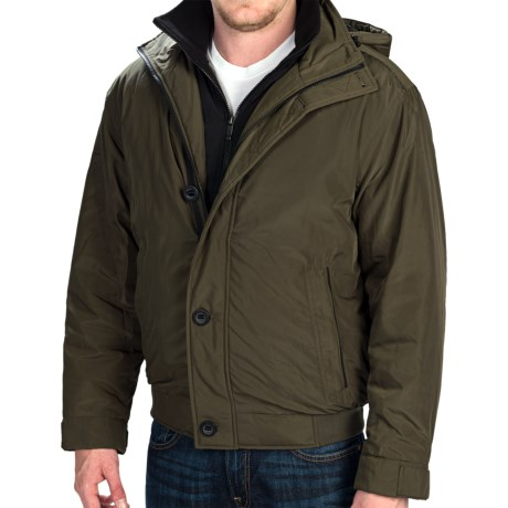 Weatherproof Hooded Bomber Jacket - Insulated (For Men)