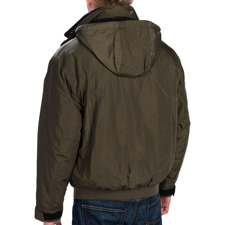 Weatherproof Hooded Bomber Jacket For Men Save 73