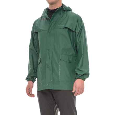 Weatherproof Hooded PVC Rain Jacket (For Men) in Forrest Green - Closeouts