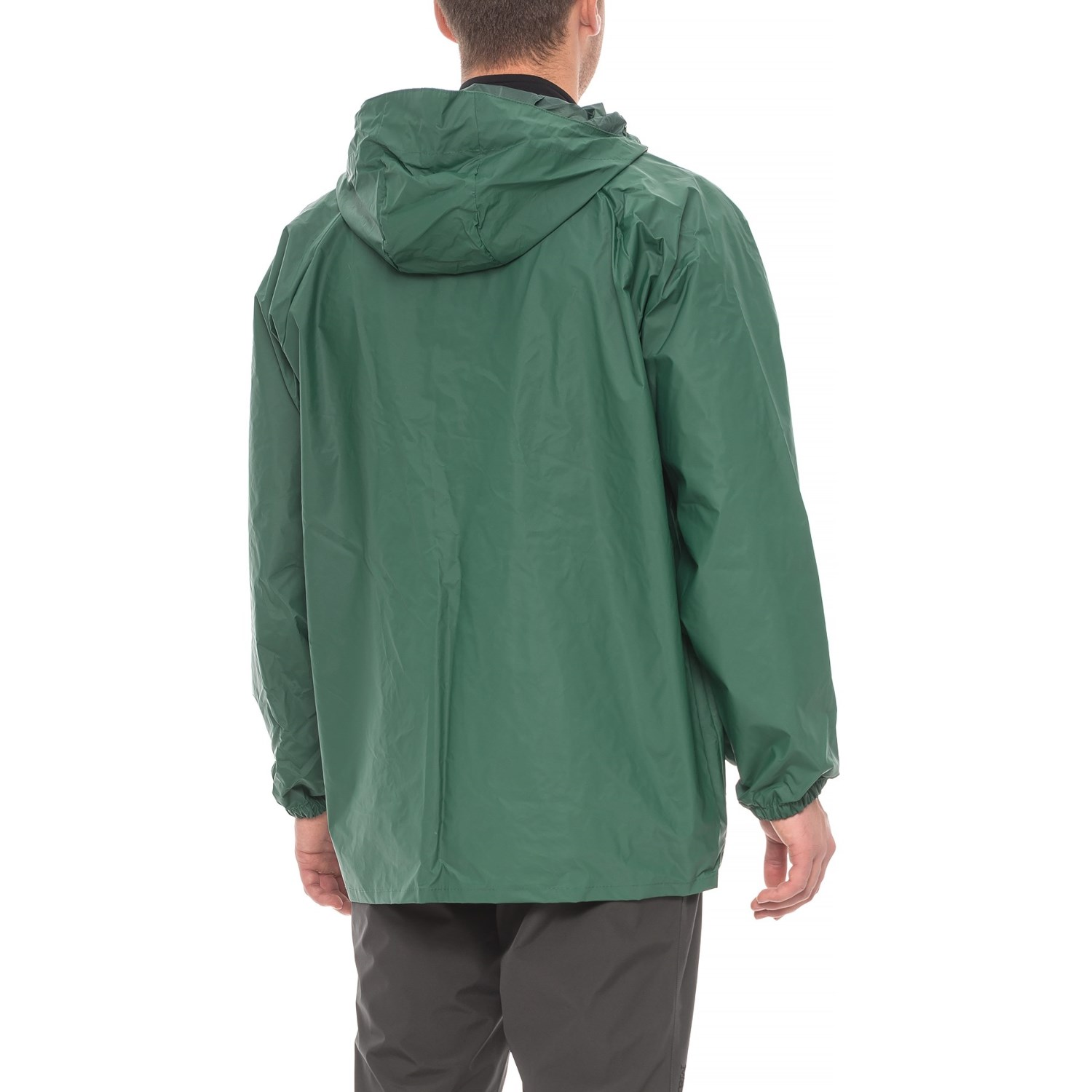 Weatherproof Hooded PVC Rain Jacket (For Men) - Save 39%