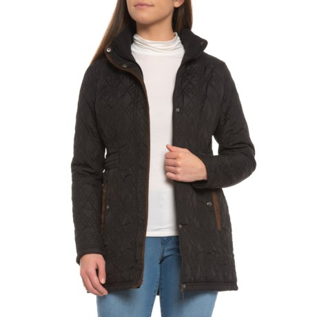 Weatherproof Hooded Quilted Jacket For Women Save 37