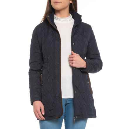 Weatherproof Hooded Quilted Jacket - Insulated (For Women) in Dark Night - Closeouts