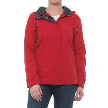 Weatherproof Hooded Windbreaker (For Women) in Tango Red - Closeouts
