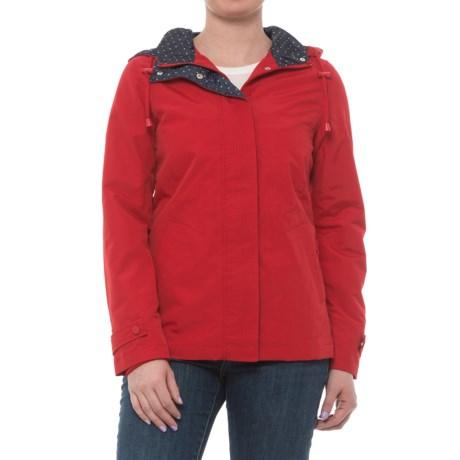 Weatherproof Hooded Windbreaker (For Women) in Tango Red