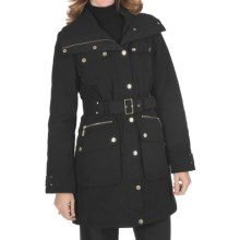 Weatherproof Insulated Car Coat - Knit Collar (For Women) in Black - Closeouts