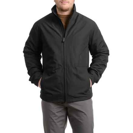 Weatherproof Jacket with Fleece Lining - Insulated (For Men) in Black - Closeouts