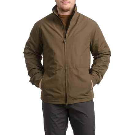 Weatherproof Jacket with Fleece Lining - Insulated (For Men) in Bourbon - Closeouts