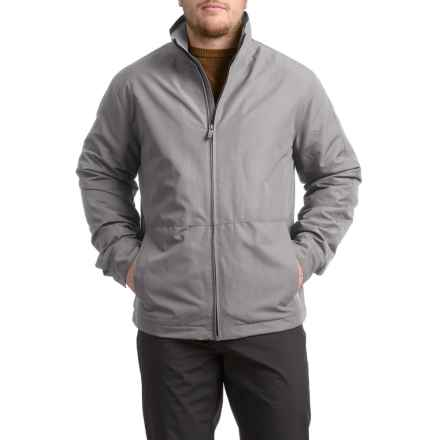 Weatherproof Jacket with Fleece Lining - Insulated (For Men) in Dark Vapor - Closeouts