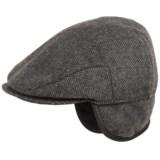 Weatherproof Large Herringbone Driving Cap - Ear Flaps (For Men)
