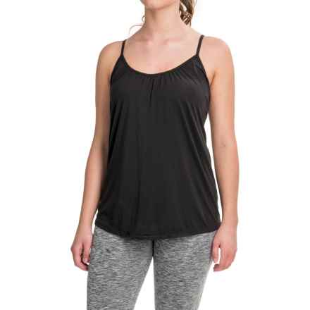 Weatherproof Lightweight Camisole - Built-In Bra, Padded Cups (For Women) in Black - Closeouts