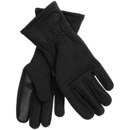 Weatherproof Lightweight Gloves - Touchscreen Compatible (For Men) in Black - Closeouts