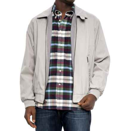 Weatherproof Lightweight Microfiber Jacket (For Men) in Fog - Overstock