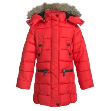 Weatherproof Long Bubble Winter Coat - Insulated (For Little and Big Girls) in Red - Closeouts