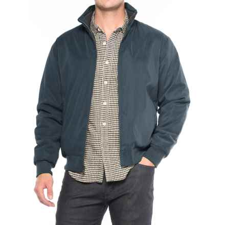 Weatherproof Microfiber-Lined Bomber Jacket - Insulated (For Men) in Blue Mountain - Closeouts