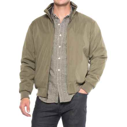 Weatherproof Microfiber-Lined Bomber Jacket - Insulated (For Men) in Saddle - Closeouts