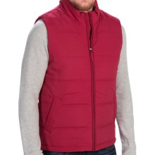 Weatherproof Microfiber Vest - Insulated, Full Zip (For Men) in Pomegranate - Closeouts